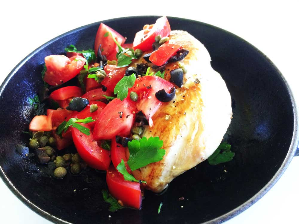Chicken with a Tomato and Olive Dressing | Sprinkles and ...