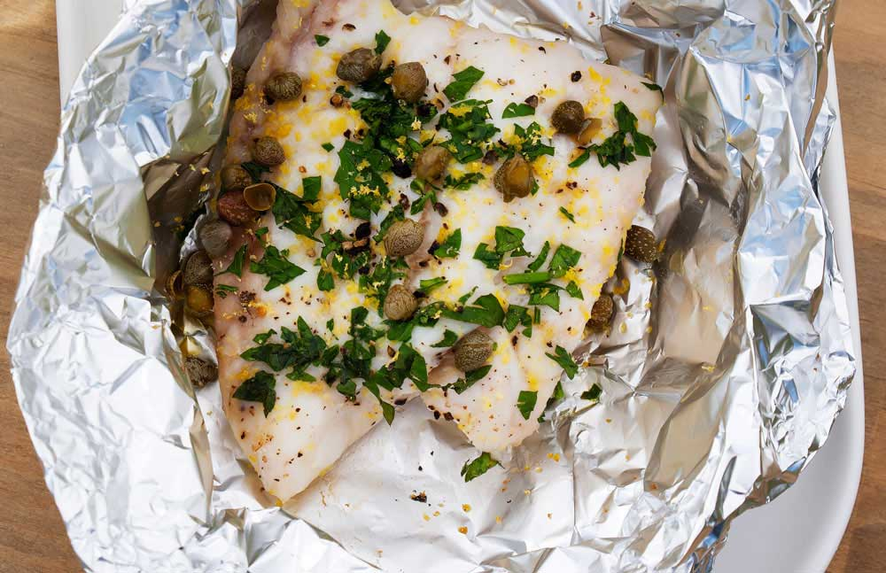 Oven Roasted Snapper Parcels. Delicious, healthy and quick. This snapper recipe is perfect for supper when time is tight.