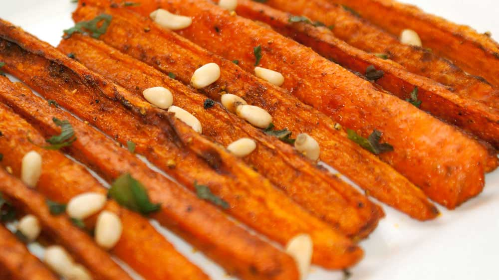 Moroccan Spiced Carrots. A sweet, earthy, spicy side dish. Or add them to a salad and make them the vegetarian hero. Delicious, healthy and totally yum!