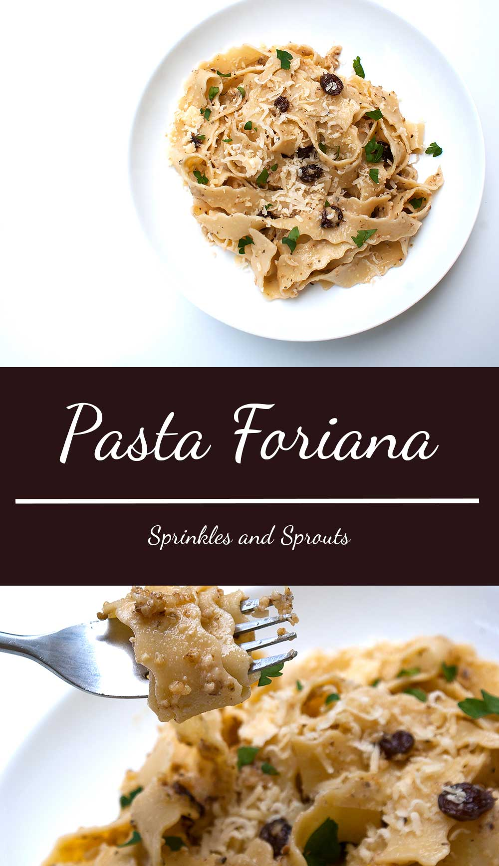 Pasta Foriana. A great vegetarian pasta dish that uses store cupboard ingredients.
