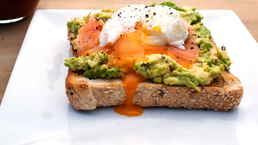 with avocado smoked salmon with avocado poached egg smoked salmon foil ...
