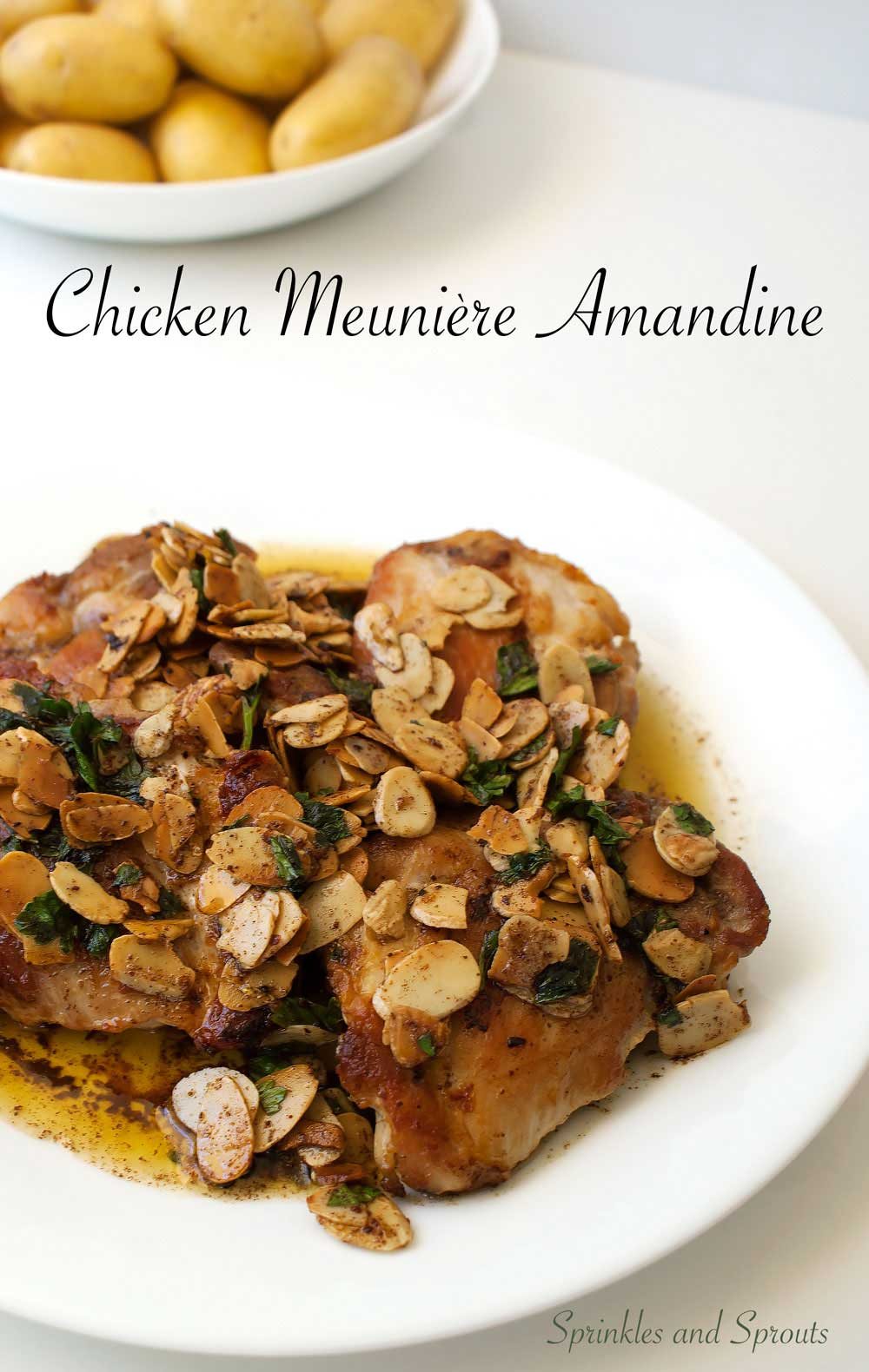 Chicken Meunière Amandine. A delicious and simple dinner inspired by a french classic.