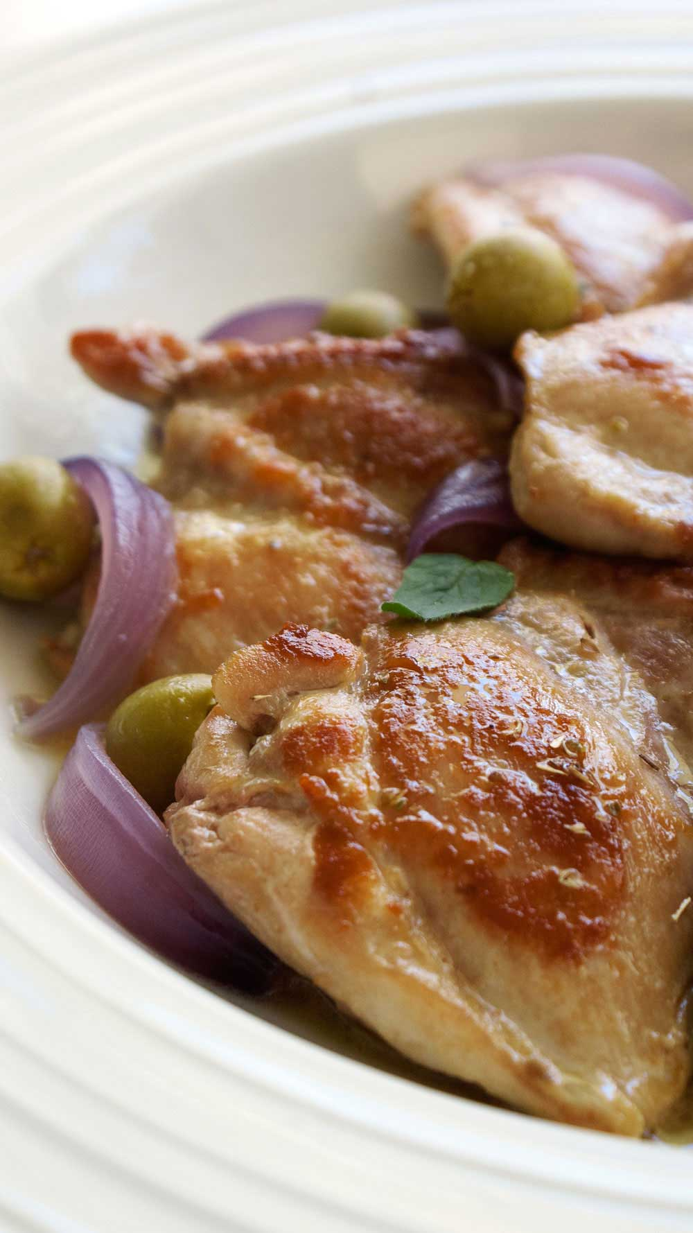 Sicilian Chicken Agrodolce. A delicious Italian sweet and sour dish. A nice light version that is perfect for Spring or Summer.