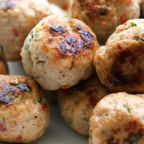 Mini Thai Chicken Meatballs Paleo And Gluten Free Sprinkles And