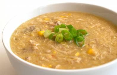 Chicken and Sweetcorn Soup. A delicious and easy soup recipe that is great on its own or at the start of a Chinese banquette. A great southern China dish.