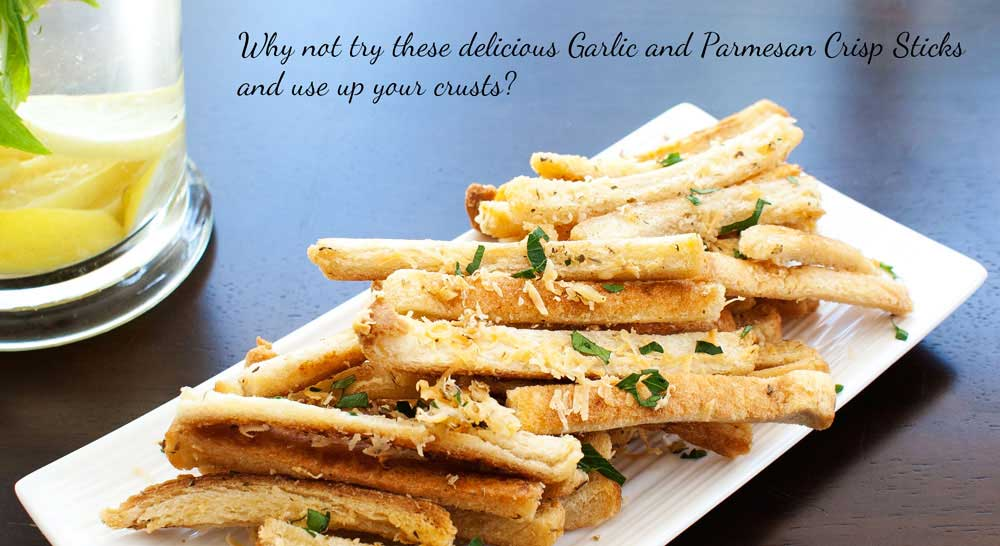 Garlic and Parmesan Crisp Sticks. The perfect crisp nibble with drinks ...