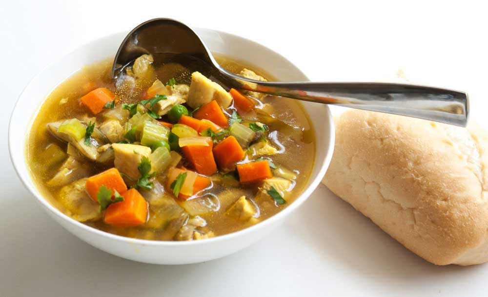 Chicken Soup. They say chicken soup is 'Jewish penicillin' and this is packed full of veg and immune boosting ingredients, it's restorative and delicious.