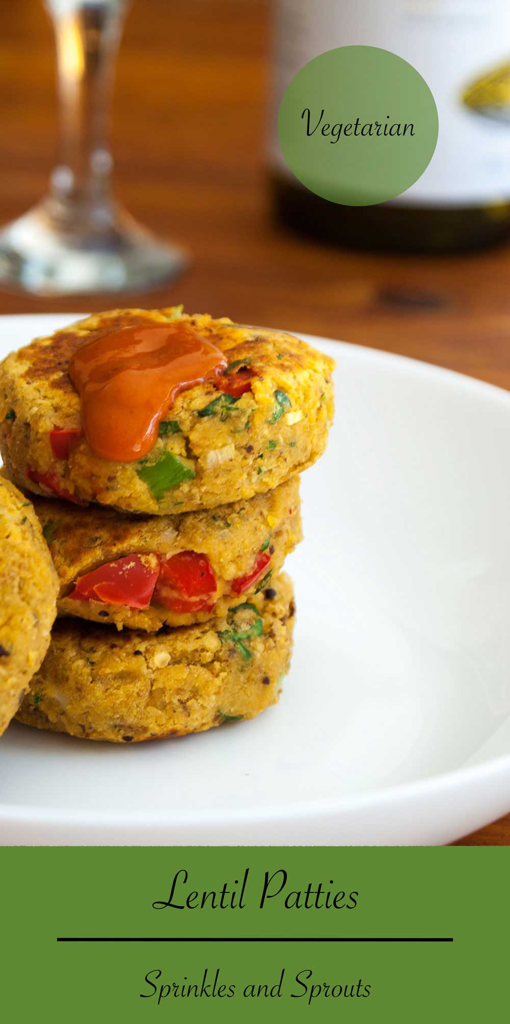 Lentil Patties. A great vegetarian dish, that is delicious eaten warm or cold. Great for lunch boxes and as a canapé or appetiser.