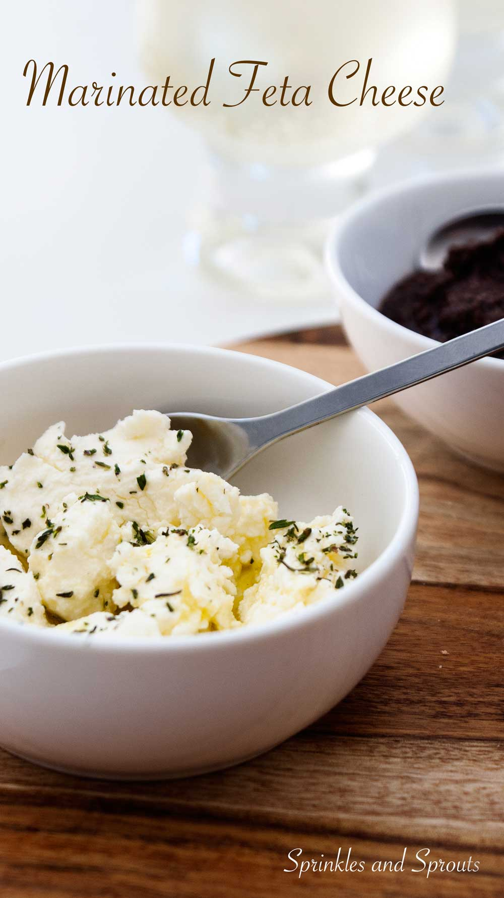 Marinated Feta Cheese - A creamy, flavourful way to enjoy this wonderful cheese.