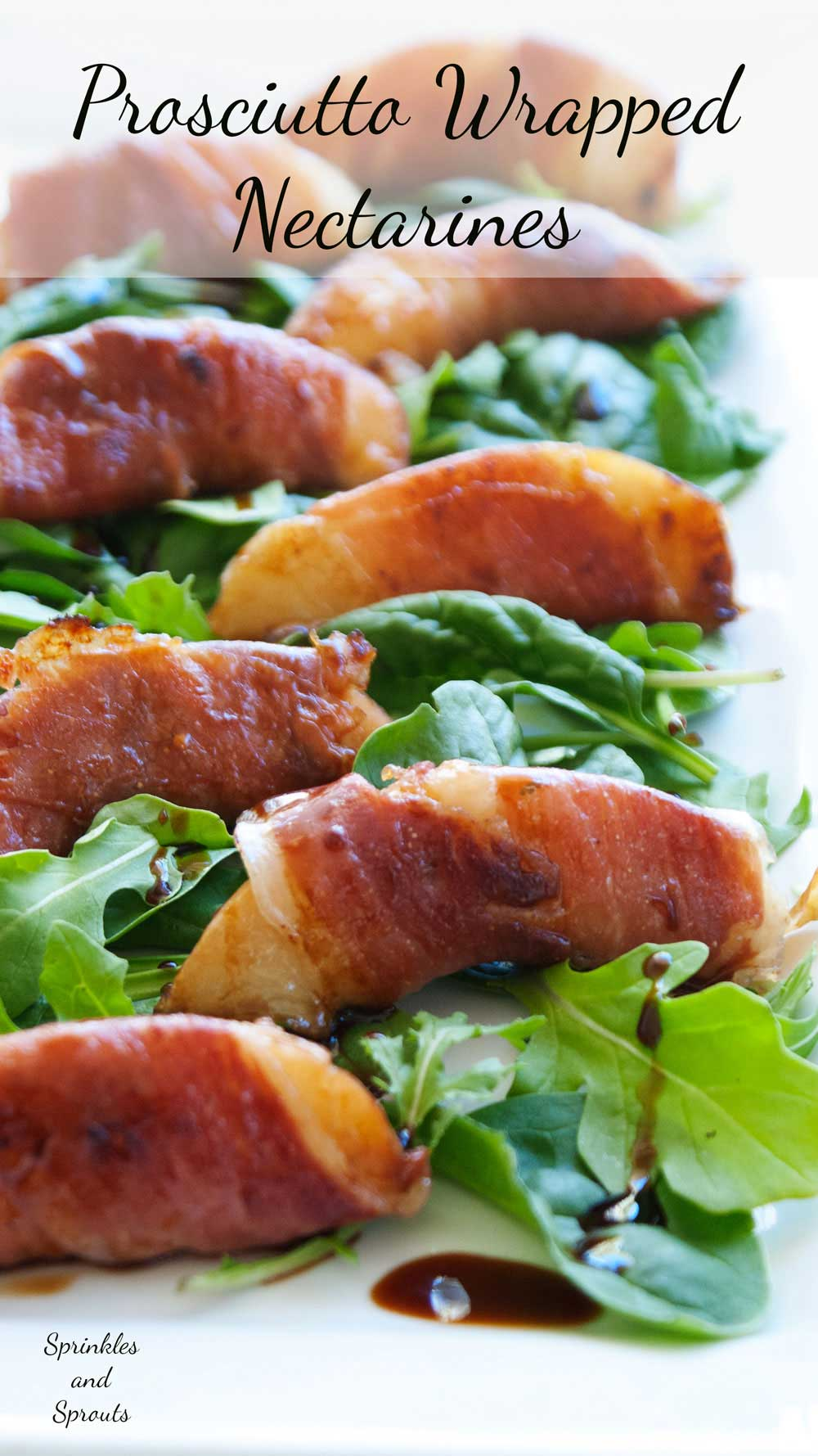 Prosciutto Wrapped Nectarines. Sweet and Salty, these are prosciutto wrapped nectarines are a great appetiser.