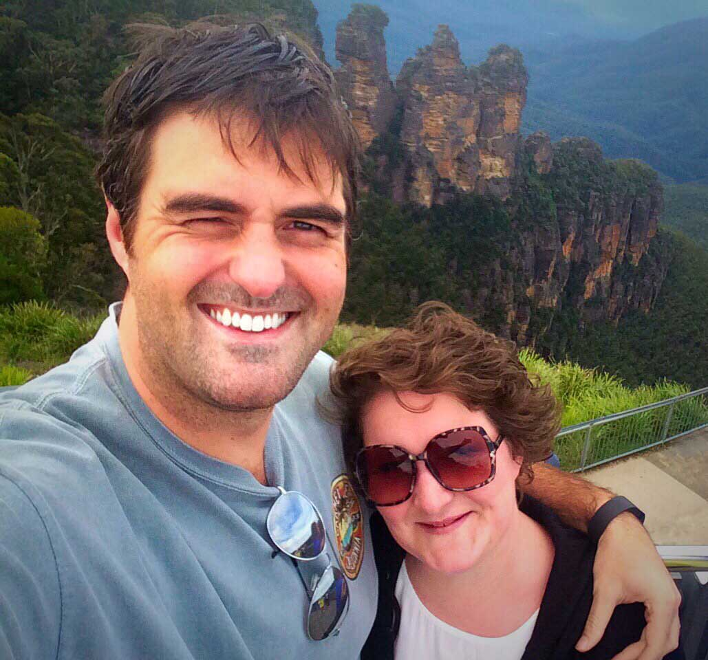 Stewart McEwen and Claire McEwen in the blue Mountains