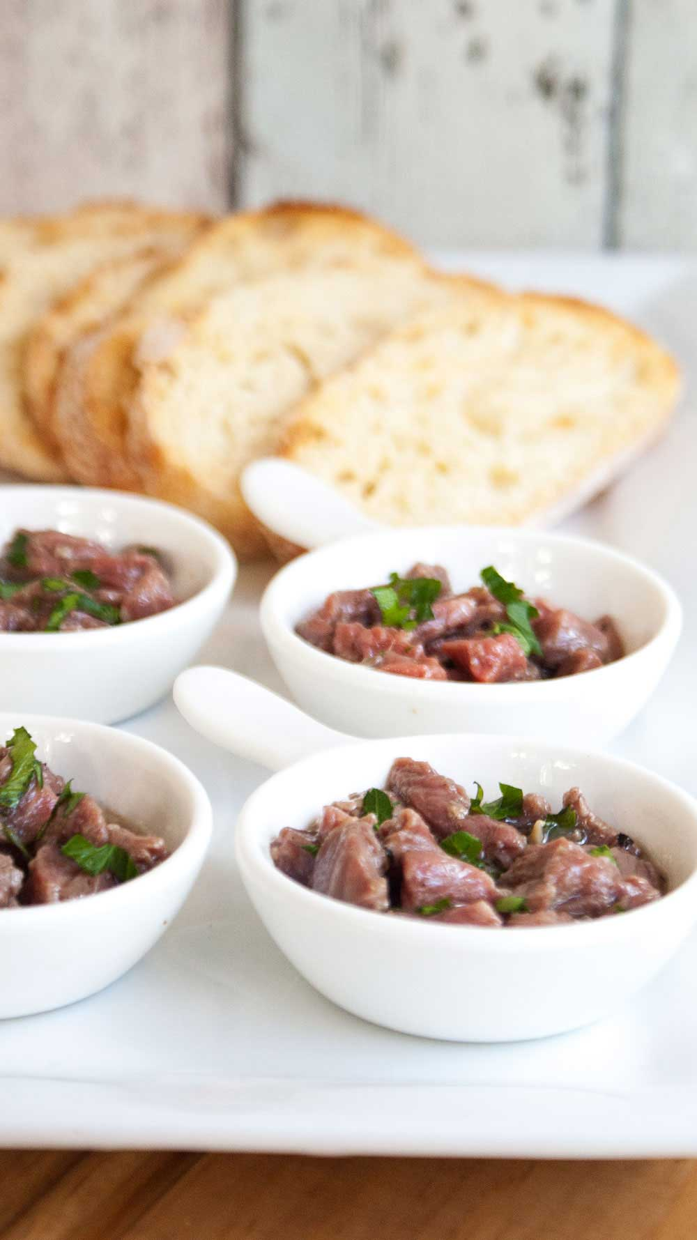 Italian Carne Cruda - An Italian Beef Appetizer | Sprinkles and Sprouts