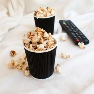 Salted Cinnamon Sugar Popcorn. Sweet and Salty. The perfect movie night treat.