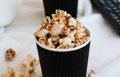 Salted Cinnamon Sugar Popcorn. Sweet and Salty. The perfect movie night treat.