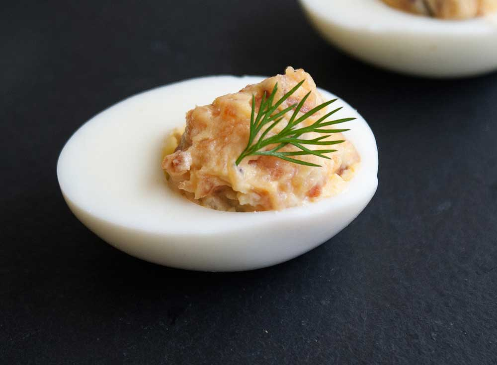 Smoked Salmon Devilled Eggs