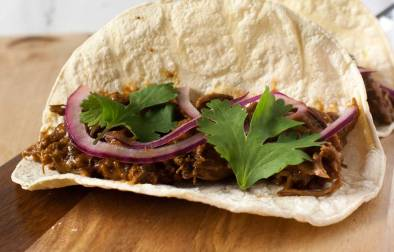 Homemade Barbacoa Beef. It's tender, flavorful and prepared in the slow cooker. Perfect for tacos, burritos or quesadillas!