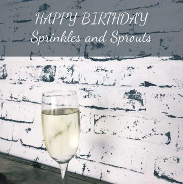 Happy Birthday Sprinkles and Sprouts. What I have learn in my first year of blogging