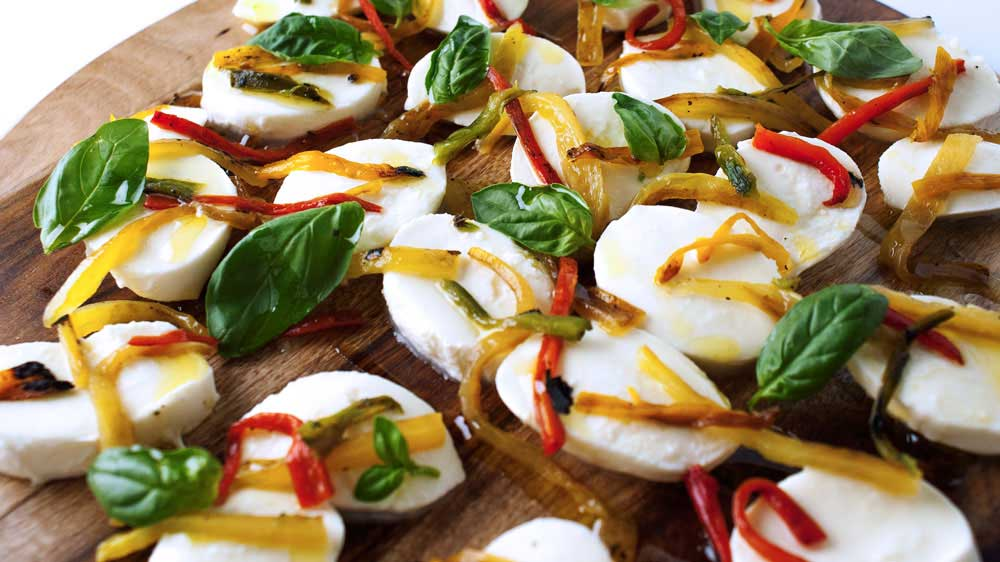 Saturday Afternoon Platter – Roasted Chilli and Basil Bocconcini