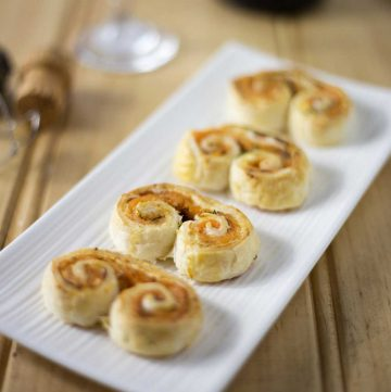 Smoked Salmon and Dill Palmiers. A great, prepare ahead appetiser (appetizer) that is simple to make and tastes sensational.