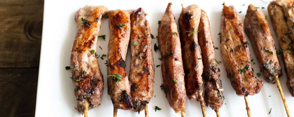 Cinnamon and Thyme Chicken Skewers