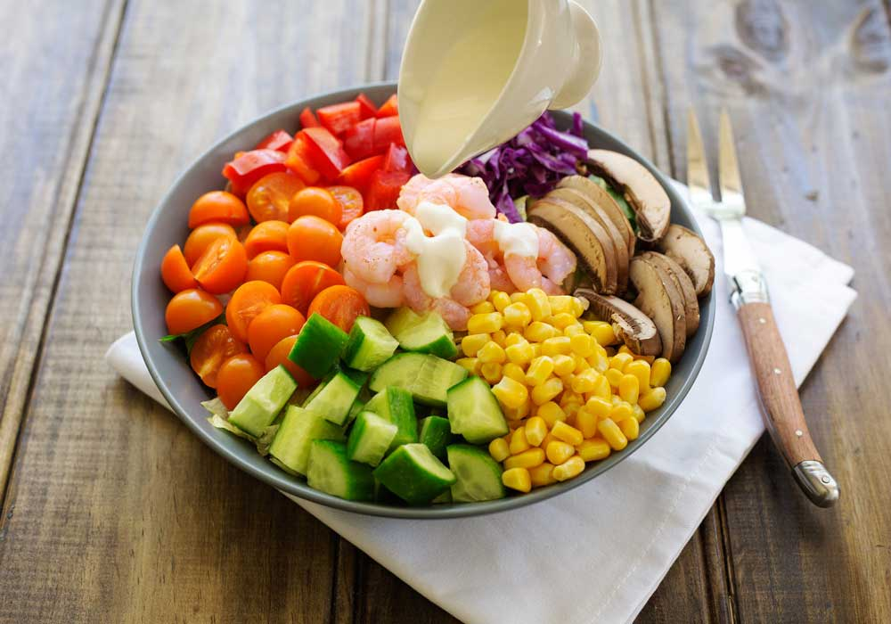 Rainbow Prawn Salad and 10 Foods to Boost your Immune System this Spring