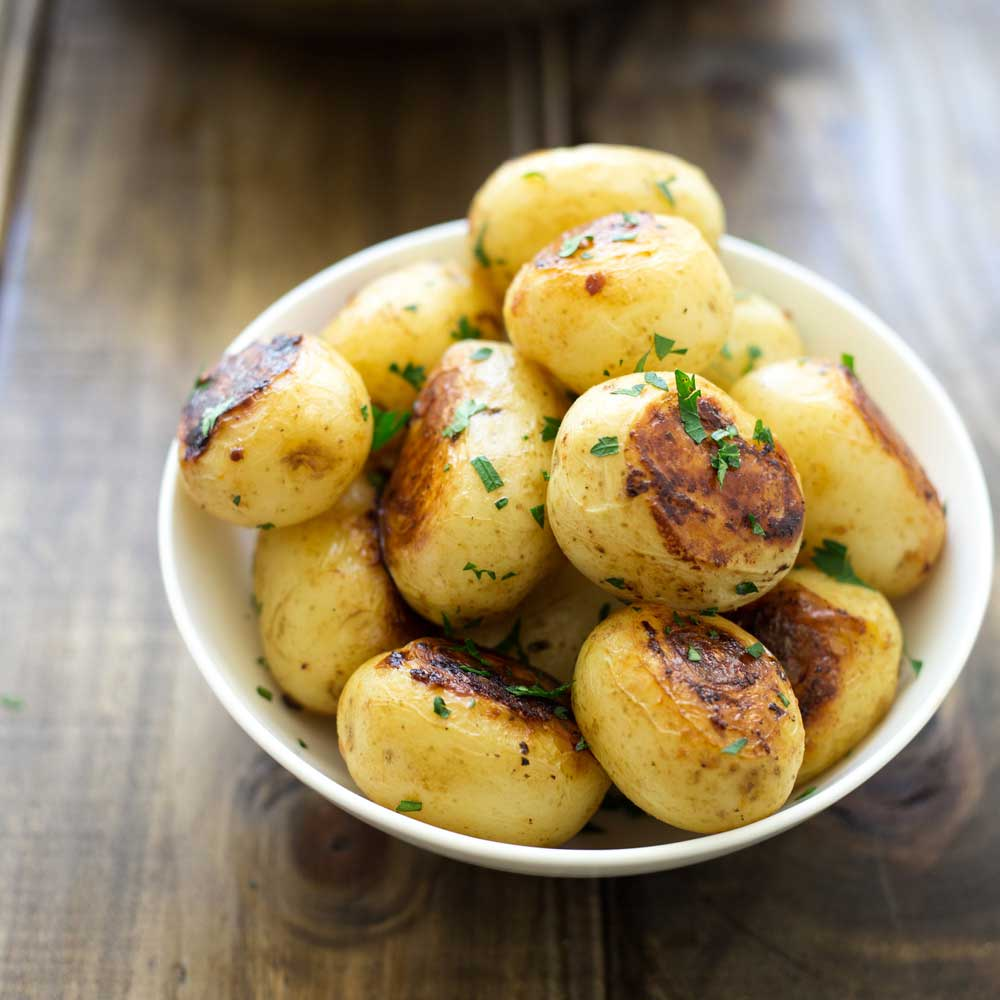 Simple Fondant Style Potatoes. Fluffy potatoes, packed with flavour with a wonderful buttery crispy bottom. These are the perfect side dish!