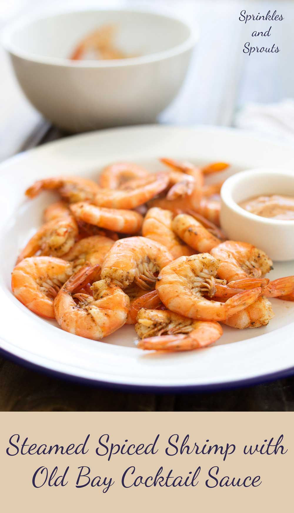 Steamed Spiced Shrimp with Old Bay Cocktail Sauce. Succulent, delicious and so moorish! This dish is simple to prepare and a sure crowd pleaser!