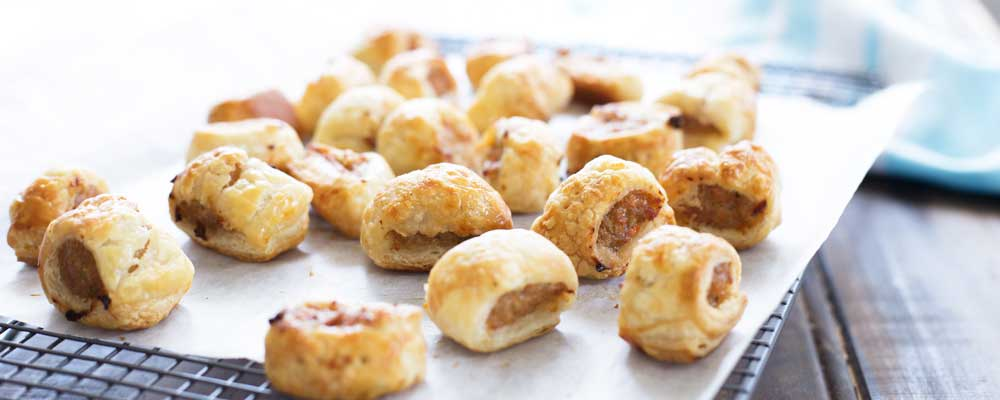 Chicken And Vegetable Sausage Roll Bites Sprinkles And
