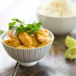 Thai Panang Chicken Curry. A slightly sweeter, milder curry that is packed with wonderful Thai flavours. It is quick to make and utterly delicious. AND it uses supermarket ingredients!!!