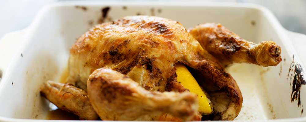 45 Minute Roast Chicken with Rosemary and Garlic. The ultimate comfort food and on the table in under an hour. Crispy skin, succulent meat and simple to make.