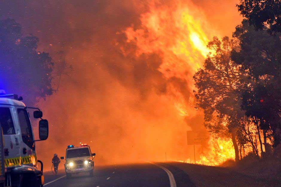Waroona Fires. Credit DFES