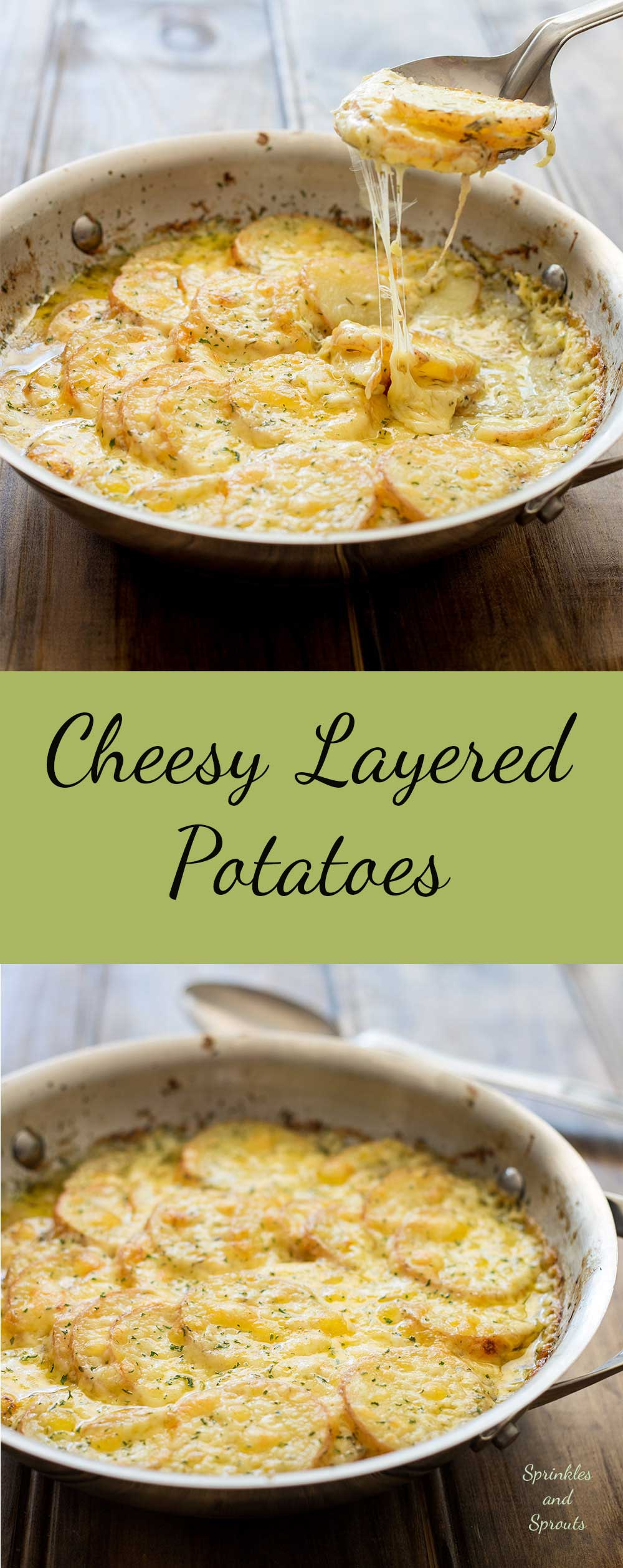 Cheesy Layered Potatoes Sprinkles And Sprouts