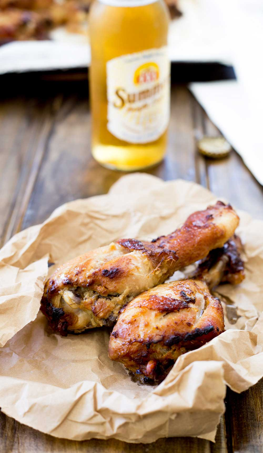 These Indonesian Ginger Chicken Drumsticks are marinated in a rich gingery glaze and then grilled to a slightly charred perfection. Served hot or cold these drumsticks are a great way to feed a crowd.