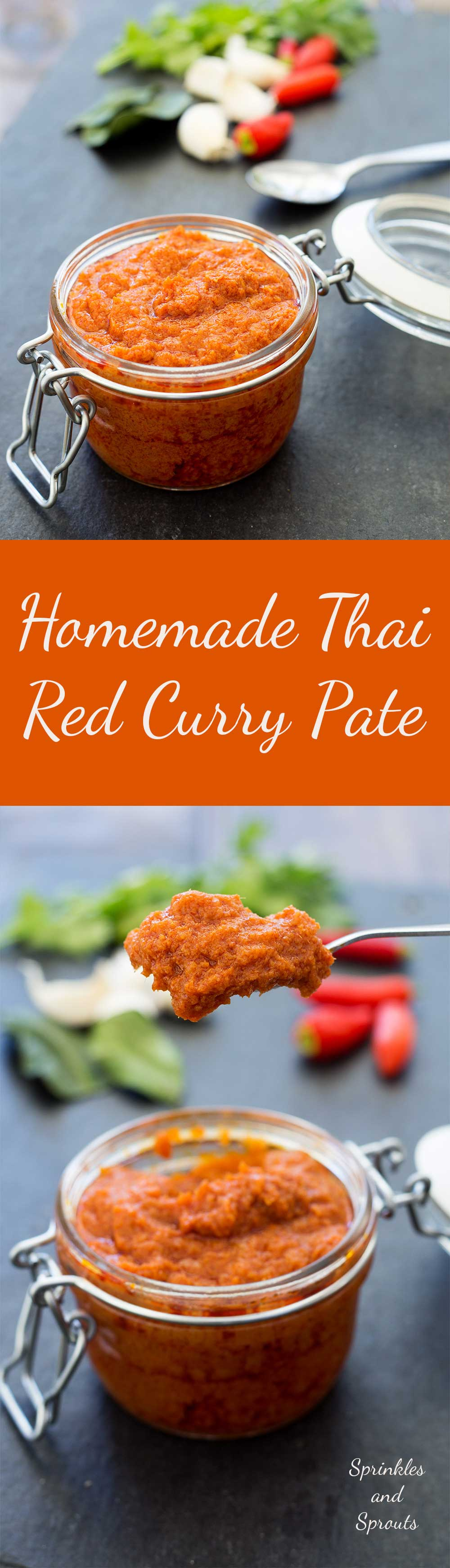Thai Red Curry Paste, a fragrant and delicious paste that makes whipping up a midweek curry a breeze. This recipe is simple to make and with my super amazing storage tip you will always have a supply of homemade fresh curry paste.