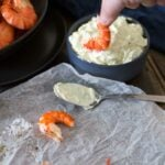 Garlic Aioli, boosted with parsley and lemon, perfect accompaniment to succulent king prawns