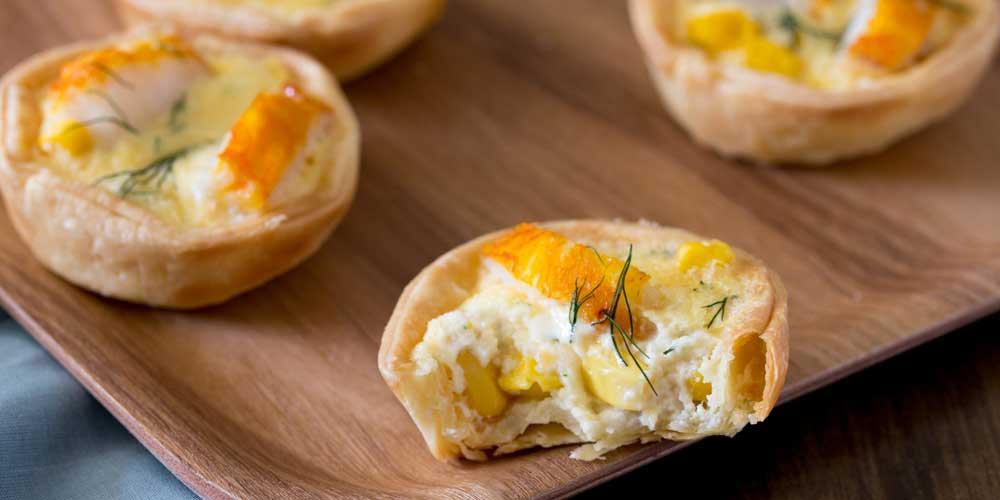 Smoked Fish and Sweetcorn Tartlets