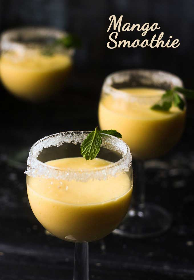 Smooth creamy and packed with fruit! This Mango smoothie is perfect for any time of day.