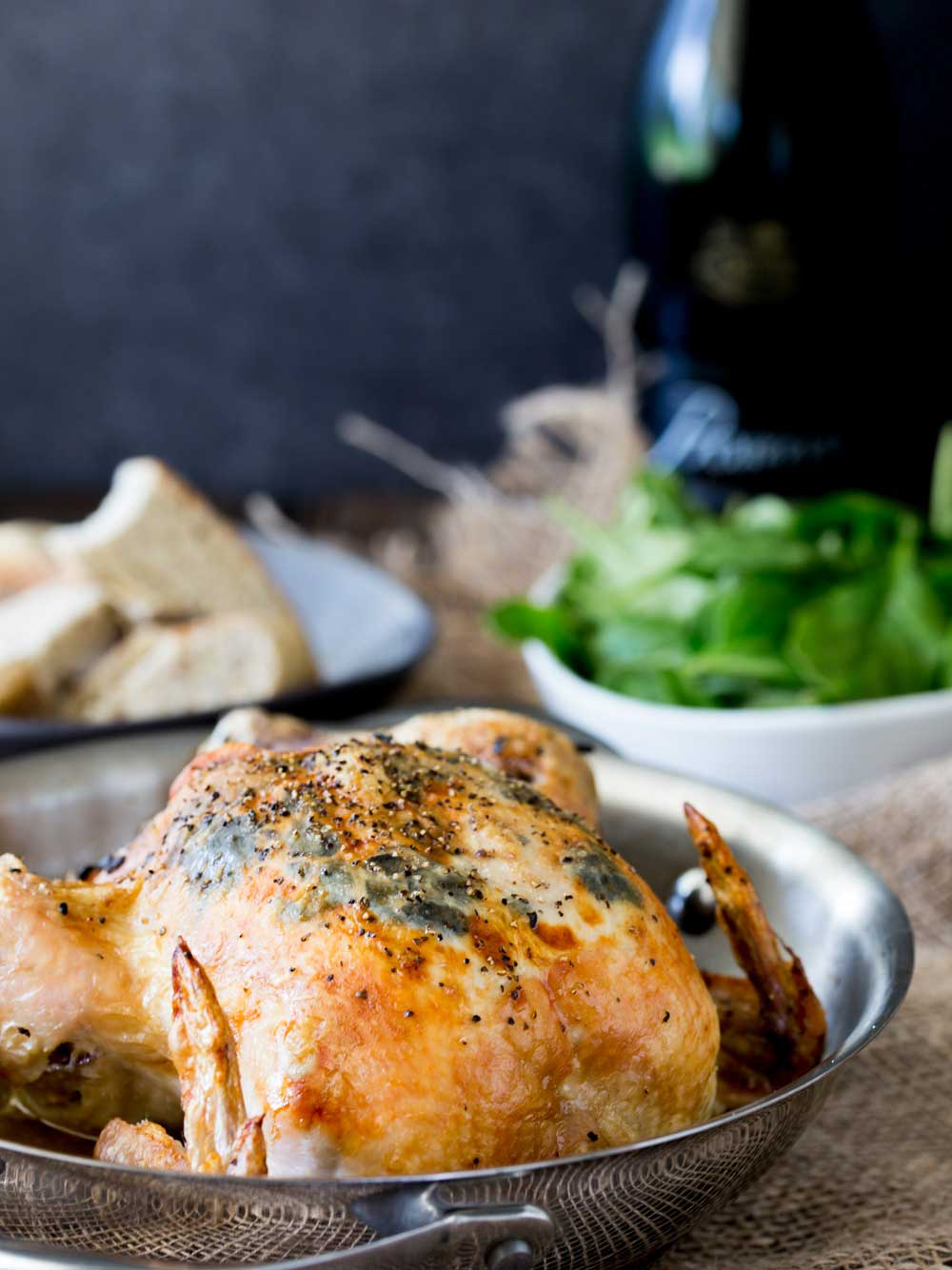 Crisp chicken skin, succulent juicy meat and the rich earthy flavour of black truffle. This black truffle roasted chicken is the perfect mix of everyday comfort and extravagance.