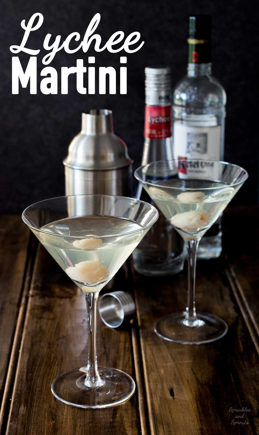 Lychee Martinis - Sweet, tropical and very very drinkable!!!!