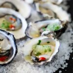These Thai oysters are dressed with a sweet and spicy dressing and then topped with a cooling salty granita. The perfect balance of flavours. If you love oysters then I know you will love these babies!