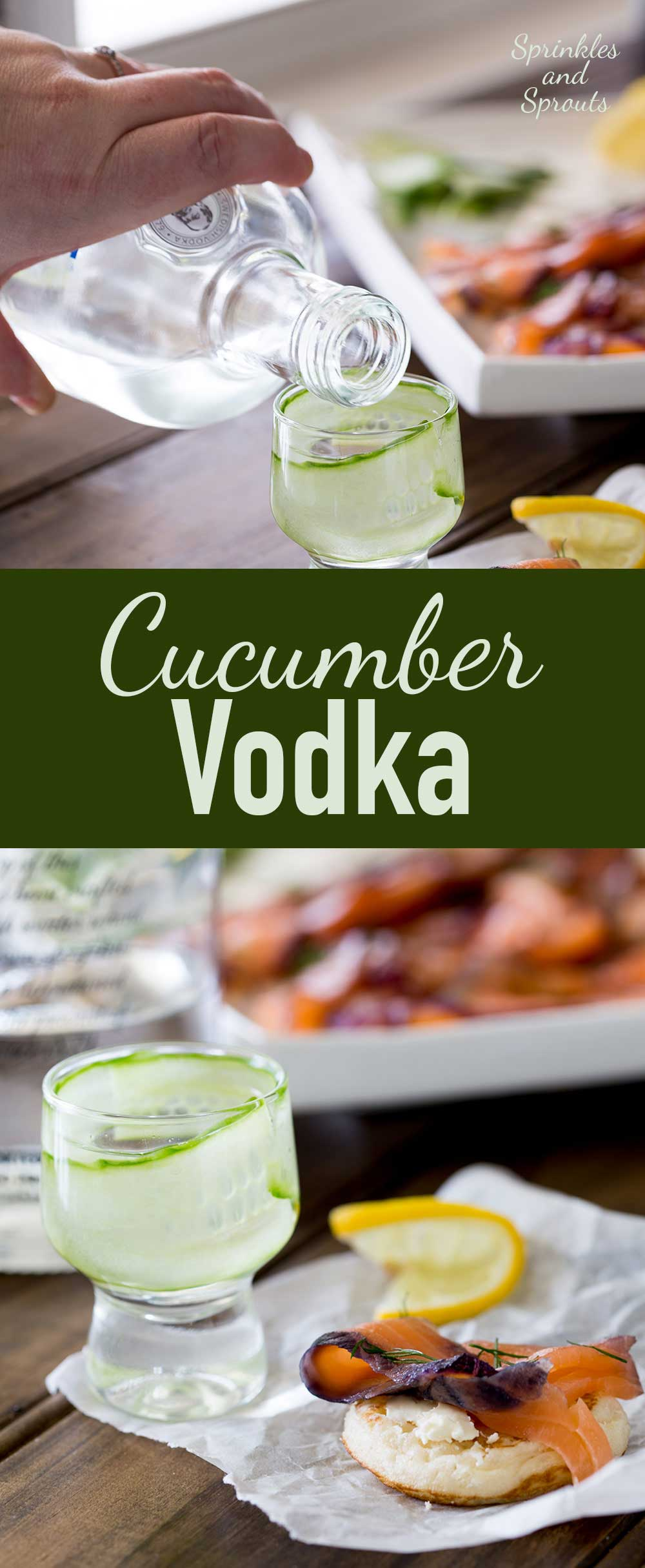 Cucumber Infused Vodka. A refreshing yet light way to enjoy your vodka straight. Or mix it up into some delicious cocktails.