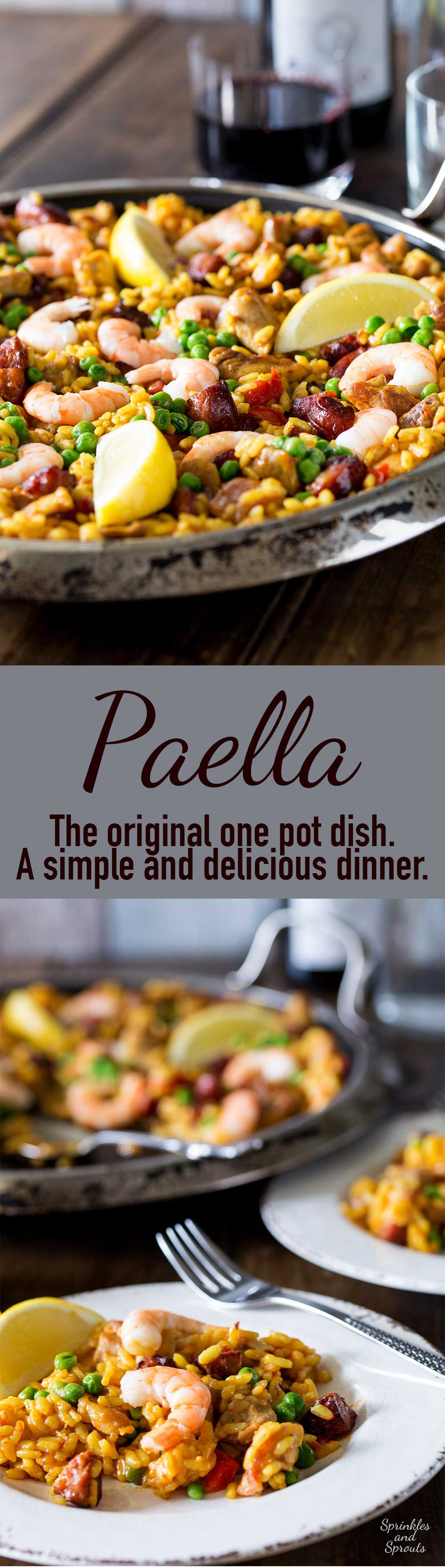Paella is the ultimate one pan dish. Rice, meat and fish are cooked together in a flavourful stock in this easy and delicious Spanish classic.