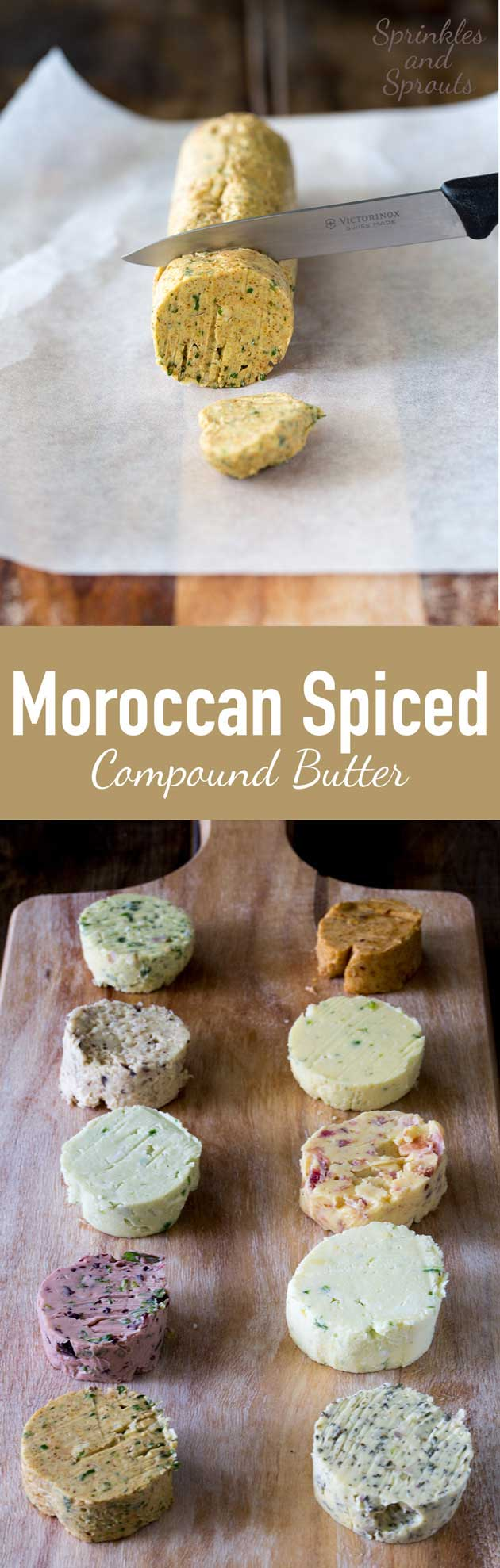 This Moroccan spiced butter is packed with flavour! It smells beautiful! Even wrapped up in the cling film you can smell the wonderful spices. It is like being whisked off to Marrakesh.