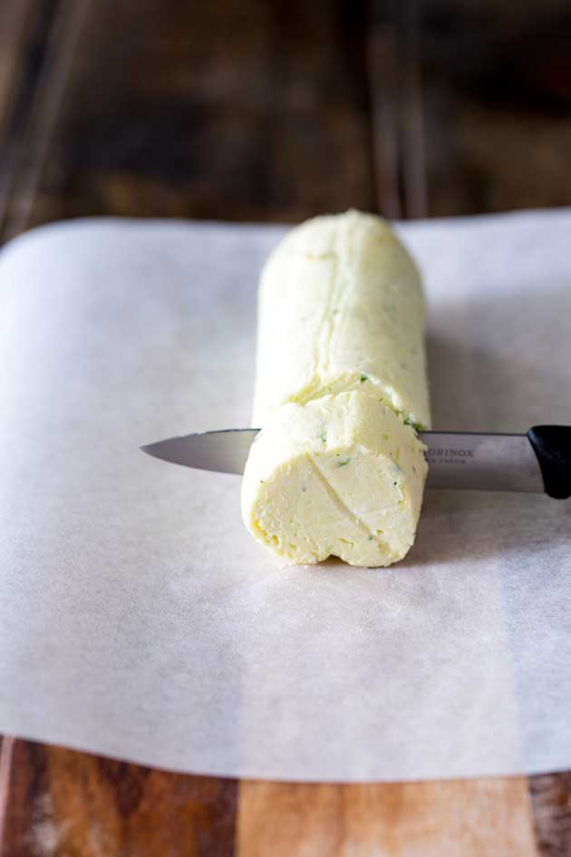 This Goats cheese butter is perfect for adding a slightly salty and rich edge to your dish. Simple to make and super creamy!