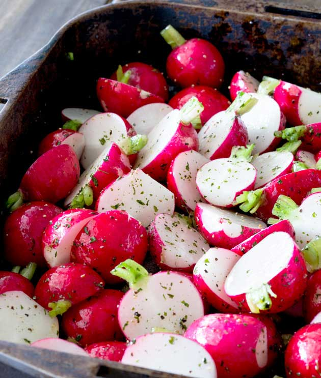 Roasted Radishes | Sprinkles and Sprouts