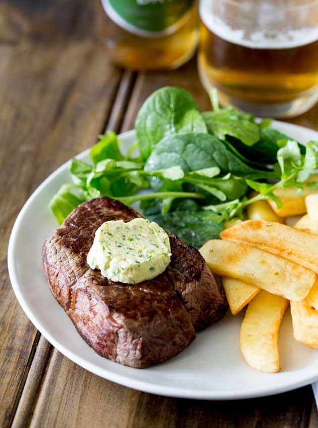 How to Cook the PERFECT Steak. Perfectly seared steak topped with a delicious round of compound butter.
