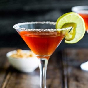 Yes you read this correctly a spiced capsicum martini! If you are a fan of the bloody mary and a salty margarita then this is the cocktail for you! From wwww.sprinklesandsprouts.com