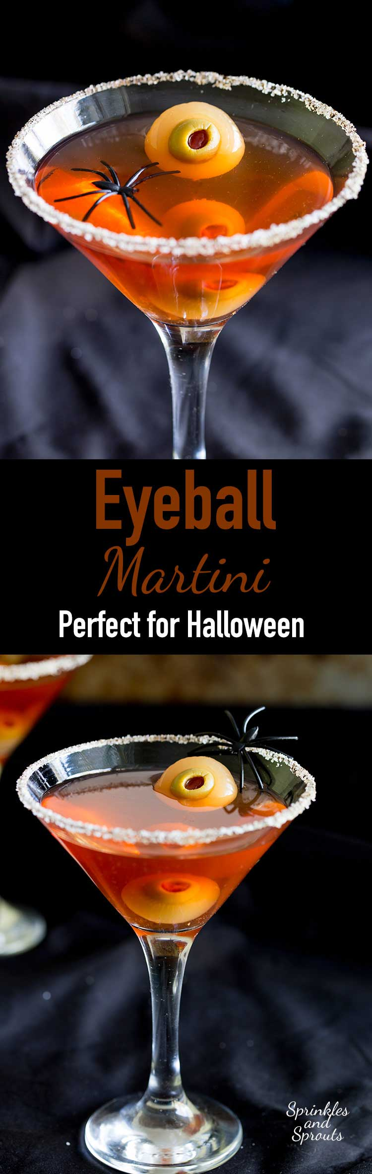 Gross eh?!?!?!?! And totally cool!!! Perfect for Halloween! These eyeball martinis will amuse and disgust your guests in equal measure! www.sprinklesandsprouts.com/eyeball-martini