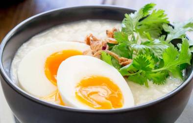 This comforting savoury rice dish is a staple across many Asian countries. It is traditionally eaten as a breakfast in China, but it is so good that I love it curled up on the sofa late at night. This is food that feeds your soul as well as your belly. Honestly this just make you feel good!