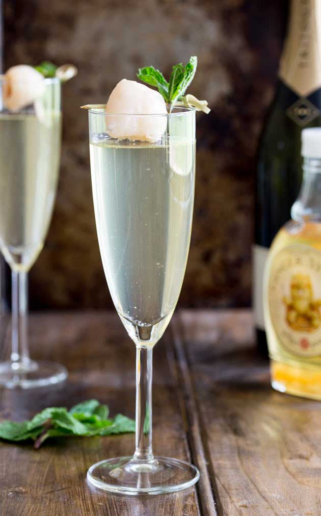 Lychee Ginger Fizz. An amazingly refreshing yet warming cocktail that is perfect in any season!
